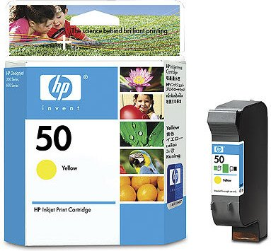 HP Printhead with ink Nr 50 yellow (51650YE)