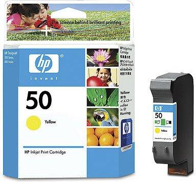 HP 50 Druckkopf mit Tinte gelb (51650YE)