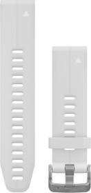 Garmin Ersatzarmband QuickFit 20 Silikon weiß/edelstahl (010-12739-01)