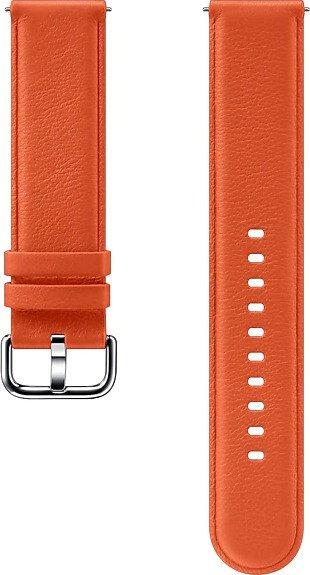 Samsung Leather Band 20mm für die Galaxy Watch Active 2 orange (ET-SLR82MOEGWW)