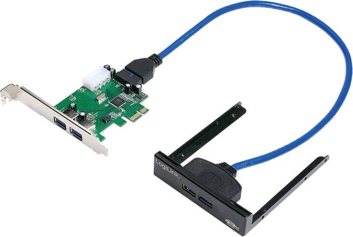 LogiLink PC0058, 4x USB 3.0, PCIe x1