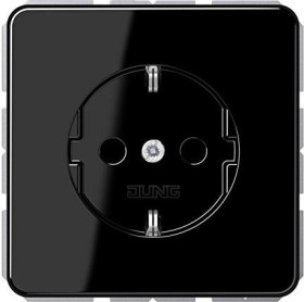 Jung series CD SCHUKO socket thermoset16A 250V, black (CD 1520 SW)