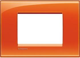 Bticino Livinglight Abdeckrahmen 1-fach, orange (LNA4803OD)