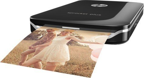HP Sprocket Plus Photo Printer, schwarz (2FR86A)