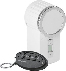 eQ-3 HomeMatic wireless door lock actuator KeyMatic incl. wireless hand-held transmitter, white (151137A0)