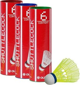 Oliver Pro Tec 5 Badmintonbälle 6 Stück gelb (51410)