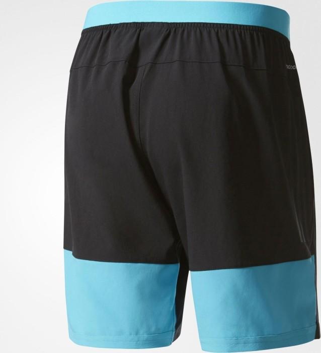 harmonische Farben detaillierter Blick Sonderrabatt adidas Speed Shorts Laufhose kurz schwarz/blau (Herren) (BK6195)