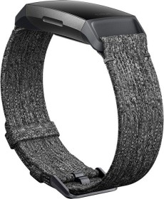 Fitbit replacement bracelet woven Small for Charge 3 charcoal (FB168WBGYS)