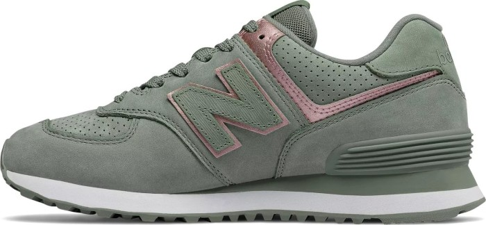 check out 81ff7 dc51d New Balance 574 Nubuck seed/champagne metallic (ladies) (WL574-NBL) from £  49.50