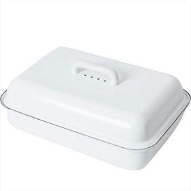 Riess Emaille Brottopf mit Deckel weiß (0616-033)