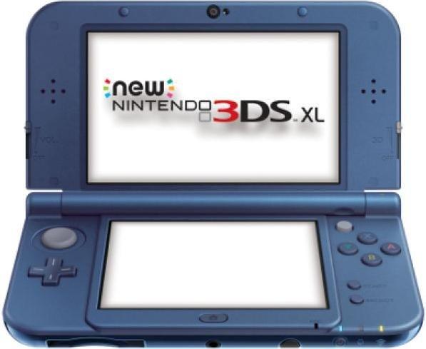 Nintendo New 3DS XL Grundgerät, Metallic Blau