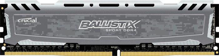 Crucial Ballistix Sport LT grau DIMM 16GB, DDR4-2400, CL16-16-16 (BLS16G4D240FSB)