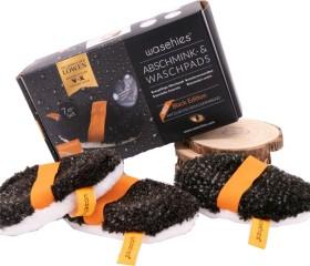 Waschies Abschminkpads schwarz, 7 Stück