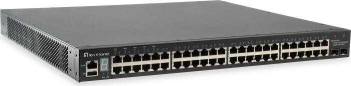 Level One GTP Rackmount Gigabit Managed switch, 48x RJ-45, 2x SFP+, 780W PoE+ (GTP-5281)