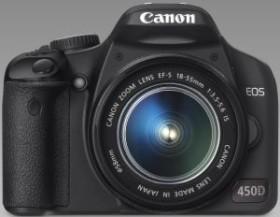 Canon EOS 450D schwarz mit Objektiv EF-S 18-55mm IS und EF-S 55-250mm IS (2758B020)