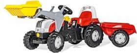 rolly toys rollyKid Steyr CVT 6190 Trettraktor mit Frontlader und Anhänger rot (023936)