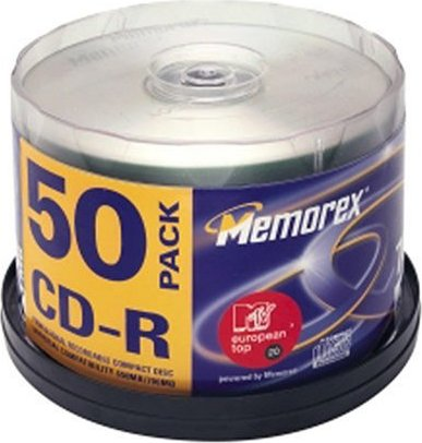 Memorex CD-R 80min/700MB, sztuk 50 -- via Amazon Partnerprogramm