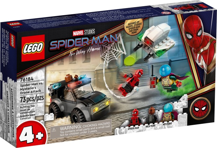 LEGO Marvel Super Heroes Spielset - Mysterios Drohnenattacke auf Spider-Man (76184)