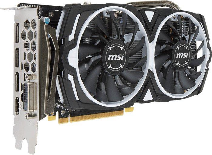 MSI Radeon RX 570 Armor 8G OC, 8GB GDDR5, DVI, HDMI, 3x DP (V341-236R)