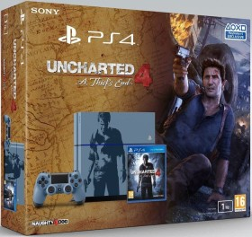 Sony PlayStation 4 - 1TB Uncharted 4: A Thief's End Limited Edition Bundle grau/blau