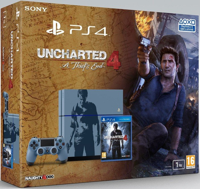 Sony Playstation 4 - 1TB Uncharted 4: A Thief's End Limited Edition Bundle grey/blue starting from £ 758.75 (2019) | Skinflint Price Comparison UK
