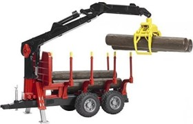 Bruder Professional Series Forestry Trailer with loading Crane and Grab (02252)