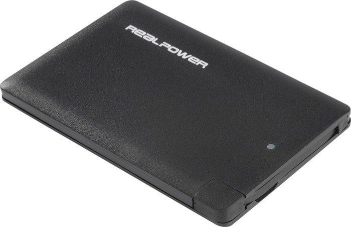 Ultron Powerbank RealPower PB-2500 Slim schwarz (157975)