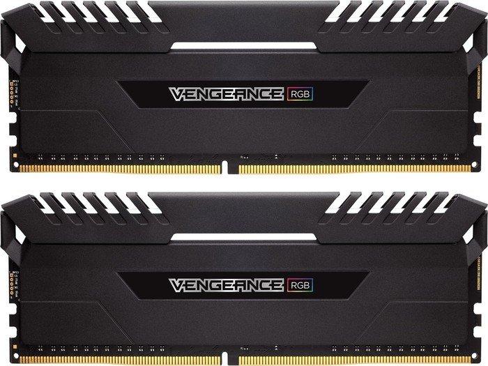 Corsair Vengeance RGB black DIMM kit 16GB, DDR4-3600, CL18-19-19-39 (CMR16GX4M2C3600C18)