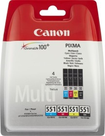 Canon multipack CLI-551 black/tricolour (6508B006 / 6509B008 / 6509B009)