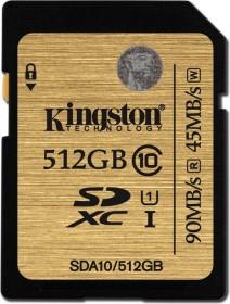 Kingston Ultimate R90/W45 SDXC 512GB, UHS-I, Class 10 (SDA10/512GB)