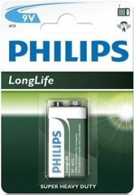 Philips LongLife 9V-block (6F22L1B/10)