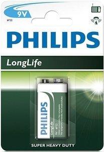 Philips LongLife 9V-block (6F22L1B/10)