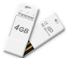 Transcend JetFlash T3 weiß 4GB, USB-A 2.0 (TS4GJFT3W)