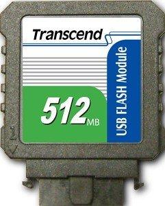 Transcend USB vertikal 512MB, USB 2.0 Pin Header 10-Pin (TS512MUFM-V)
