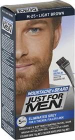 Combe Just for Men Bart und Schnurrbart Brush-In Gel Haarfarbe hellbraun, 28.4ml