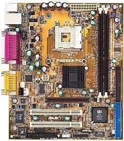 ASUS P4S333-FX, SiS645, audio, LAN, flexATX [DDR]