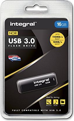 Integral Noir 16GB, USB-A 3.0 (INFD16GBNOIR3.0) -- via Amazon Partnerprogramm