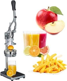 Relaxdays manual juice extractor with blade attachment (10021721)