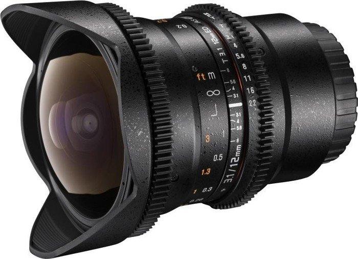 Walimex Pro 12mm 3.1 fisheye VDSLR for Nikon F black (20603)