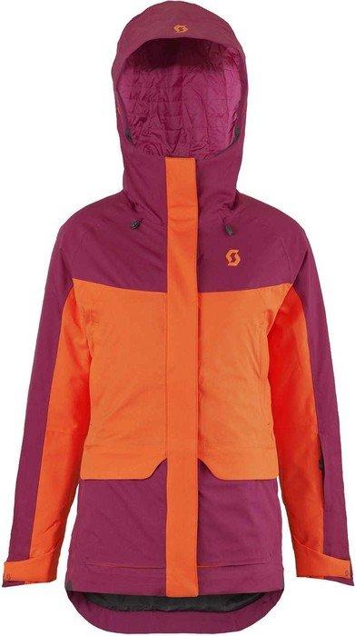 Scott Vertic 2L Insulated ski jacket sangria purple/orange crush (ladies)
