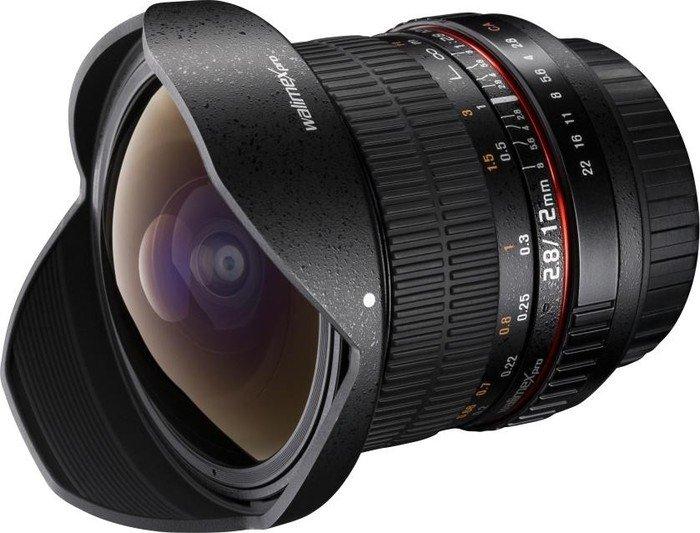 Walimex Pro 12mm 2.8 Fisheye DSLR für Sony A schwarz (20595)