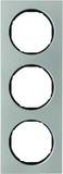 Berker R.3 Rahmen 3fach, Edelstahl/schwarz (10132204)
