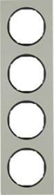 Berker R.3 Rahmen 4fach, Edelstahl/schwarz (10142204)