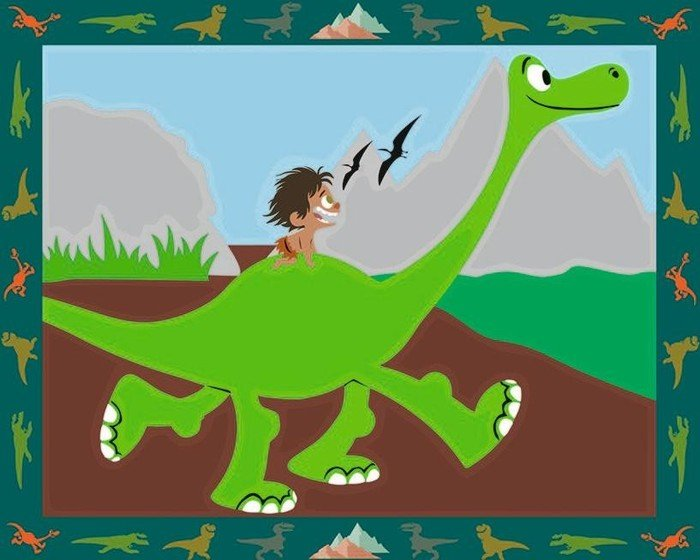 Ravensburger Malen Nach Zahlen The Good Dinosaur 27766