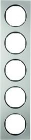 Berker R.3 Rahmen 5fach, Edelstahl/schwarz (10152204)