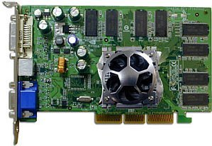Sparkle SP8834DT, GeForceFX 5200, 128MB DDR, DVI, TV-out, AGP