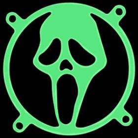 Lüftergitter/Fan Guard Scream/Mask 80x80mm UV