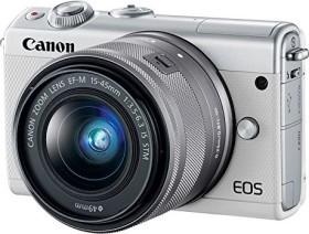 Canon EOS M100 weiß mit Objektiv EF-M 15-45mm 3.5-6.3 IS STM (2210C049)