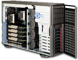 Supermicro 747TQ-R1400B black, 1400W redundant