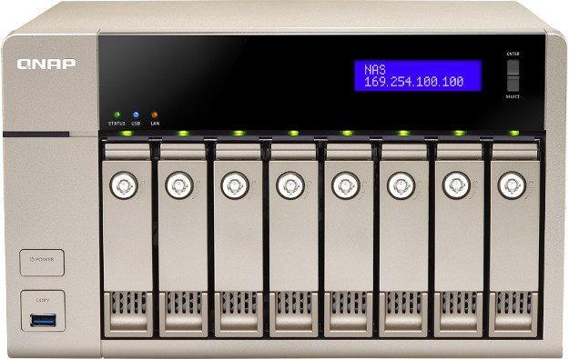 QNAP TVS-863+, 8GB RAM, 1x 10GBase/2x Gb LAN